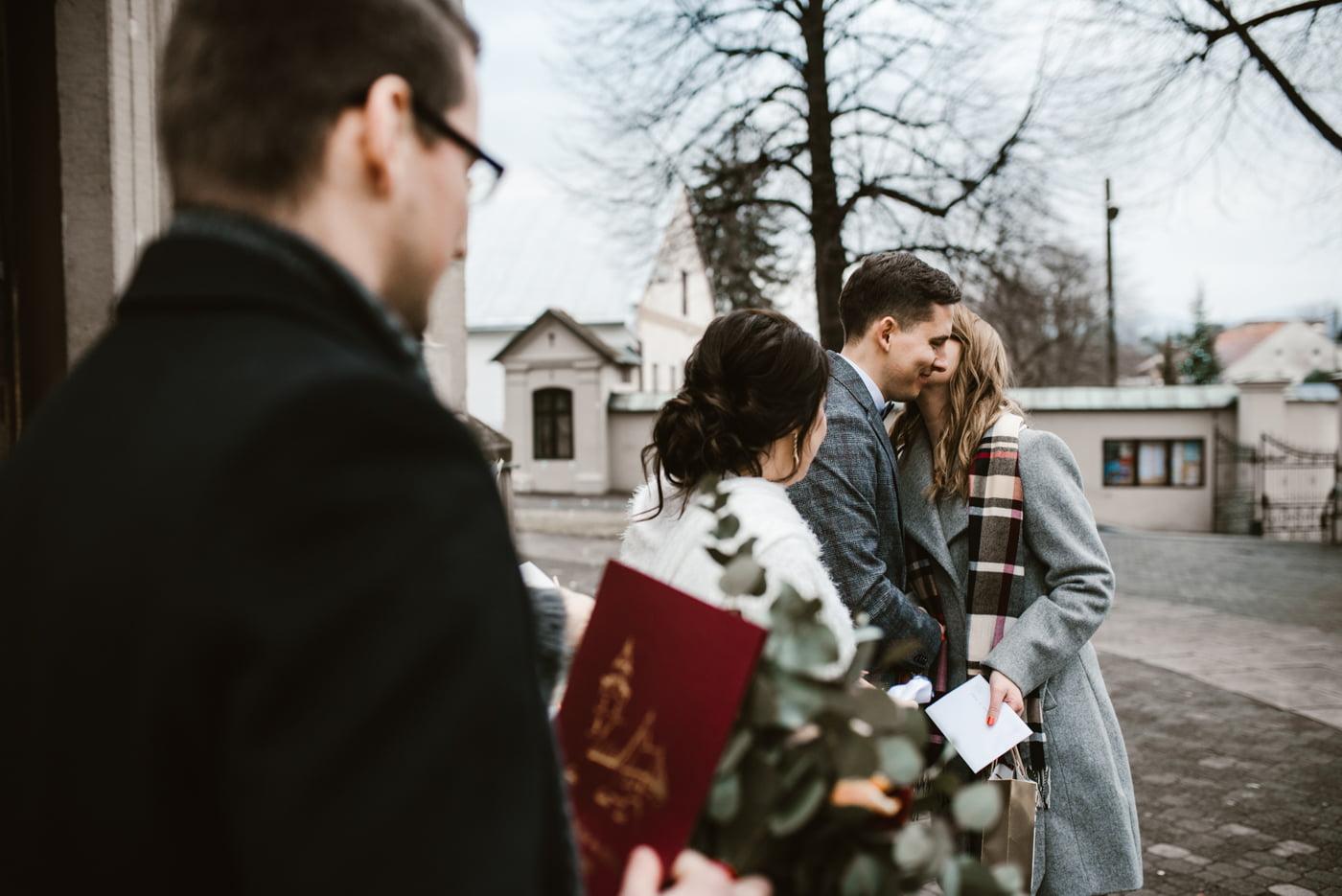 Zimowy ślub Dagmara i Michał - Willa Poprad w Rytrze 42
