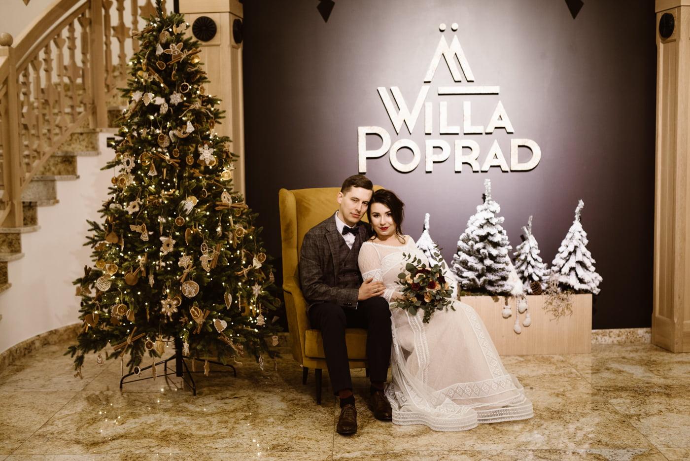 Zimowy ślub Dagmara i Michał - Willa Poprad w Rytrze 48