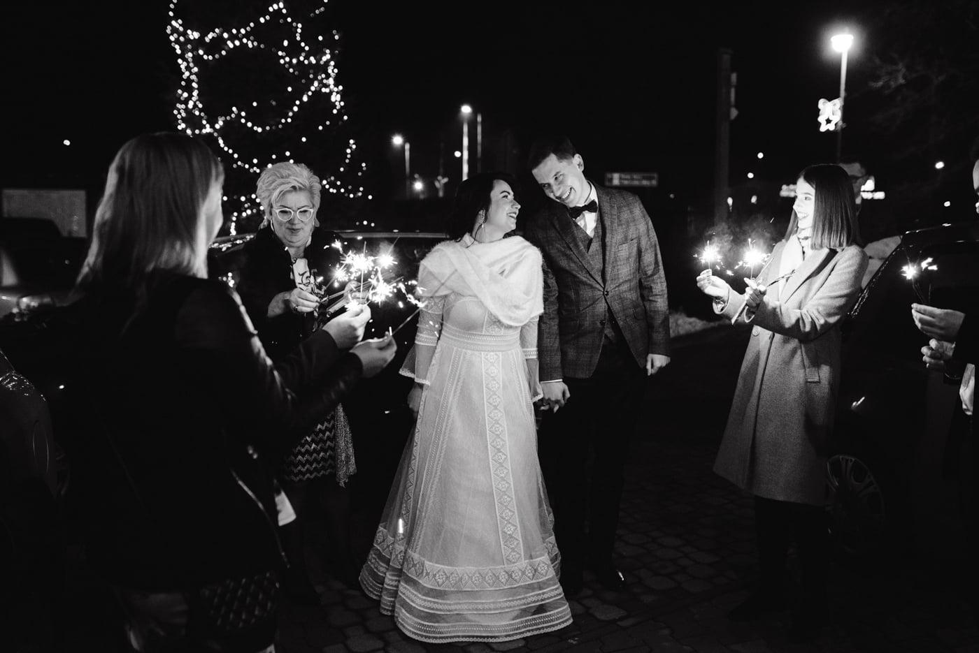 Zimowy ślub Dagmara i Michał - Willa Poprad w Rytrze 63